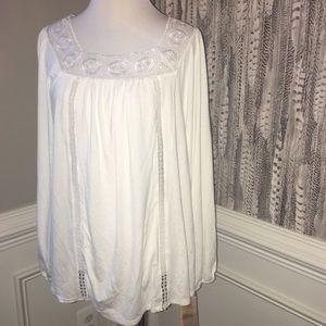 Nanette by Nanette Lepore white boho shirt